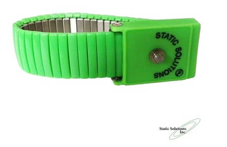 Wrist Strap With Metal Expansion And 4mm Snap