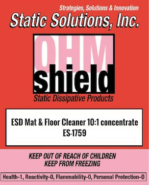 Ohm-Shield™ ESD Mat And Floor Cleaner, 10:1 concentrate