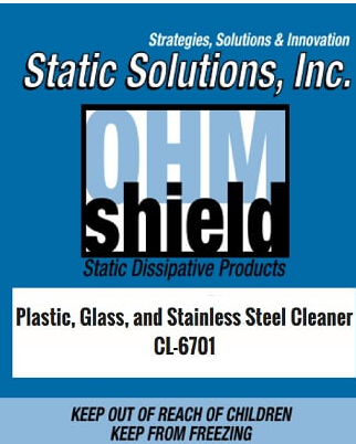 Ohm-Shield™ Plastic, Glass And Stainless Steel Cleaner