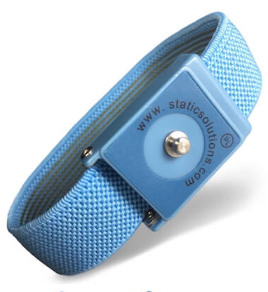 Wrist Strap: Patented Design In Blue With 4mm Snap