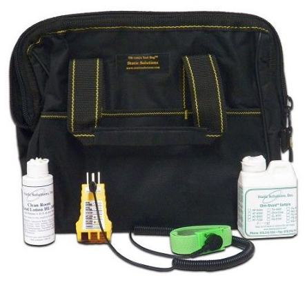 Tool Bag With Ohm-Stat™ Earth Ground Checker With Jack To Ground And Wrist Strap