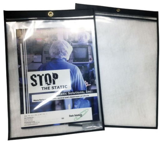Ohm-Stat™ Anti-Static Sheet Protector Document Holder With Grommet