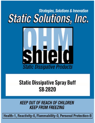 Ohm-Shield™ Spray Buff Cleans Dirt, Scratches And Scuffs