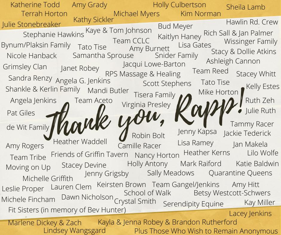 Thank you, Rapp!