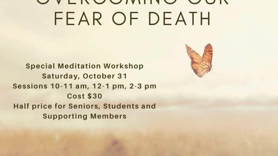 Oct 31st OVERCOMING FEAR OF DEATH