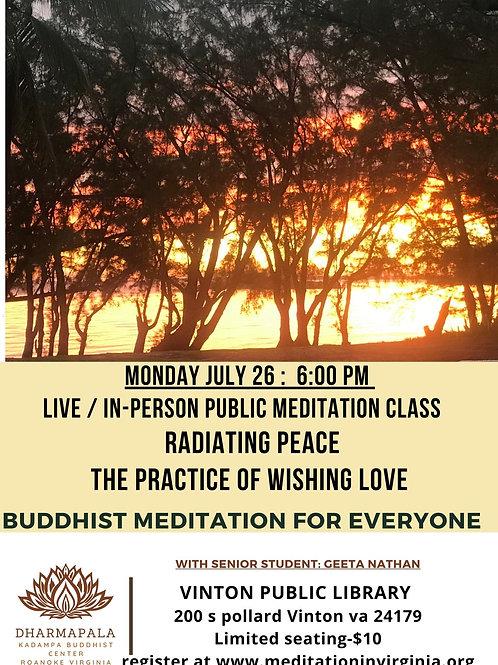 July 26 Radiating Peace