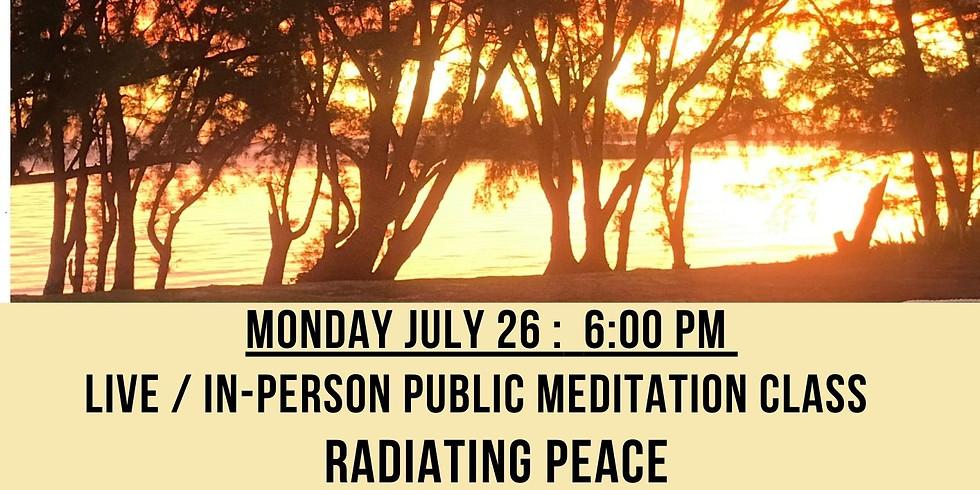 July 26, Radiating Peace