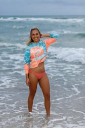 Julia Brodska on Beach