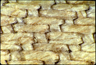 Herring bone weave of the cloth of the Shroud of Turin