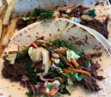 Slow-Cooked Korean Grassfed Beef Soft Tacos