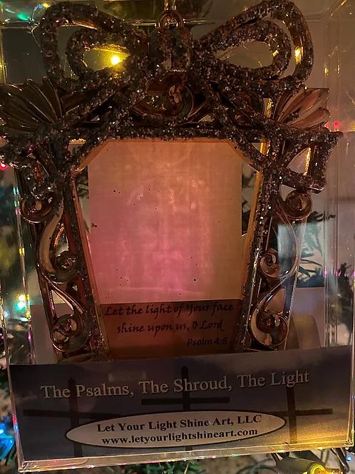 Ornament / Suncatcher- Gold Gift Shape
