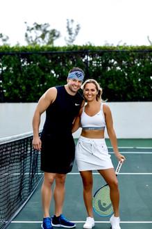Julia Brodska Playing Tennis
