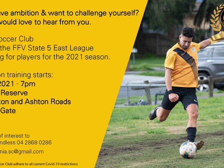Pre-Season training for FFV Mens team