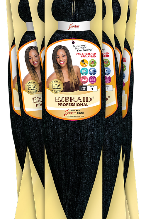 "Ez Braid Hair Pre-stretched Braiding Itch & Bacteria Free 20"""