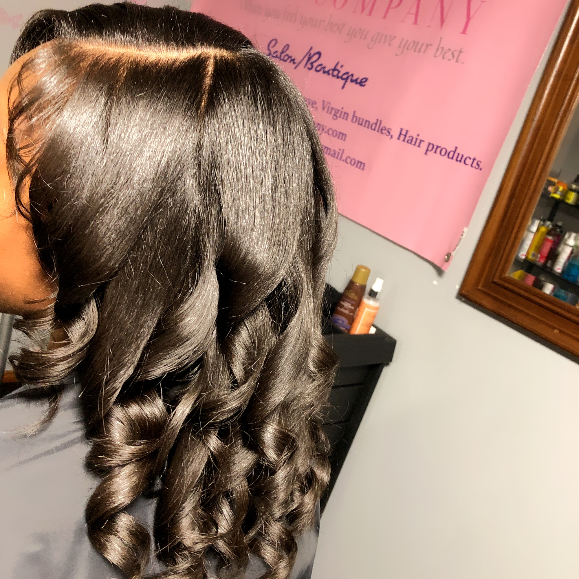 Silk Press ( For Natural Hair )