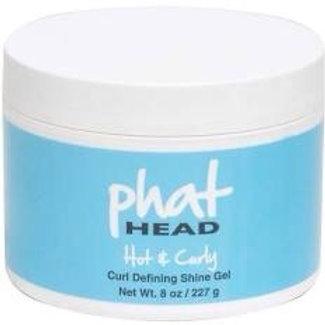 Phat Head Hot & Curly Curl Defining Shine Gel 8 oz.