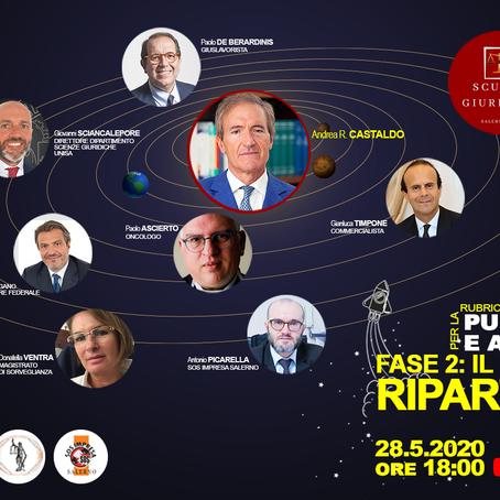 """""""Fase 2: Il Paese riparte?"""" Paolo Ascierto e altri esperti ne discutono in diretta Facebook per SGS"""