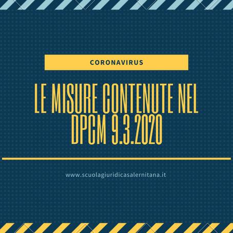 Cosa prevede il DPCM del 9 marzo 2020 per il contenimento e il contrasto del Coronavirus?
