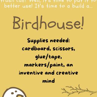Cardboard Birdhouse Project