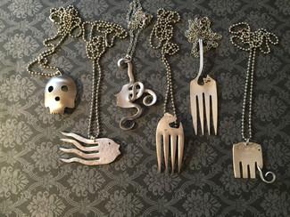 Turning silverware into fun jewelry!