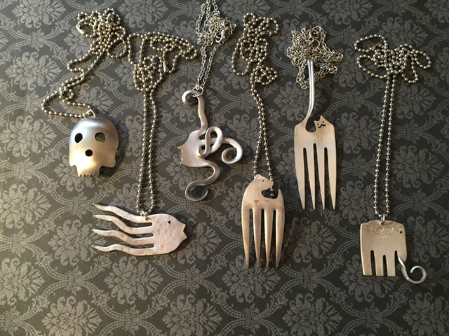 Turning silverware into fun jewelry!