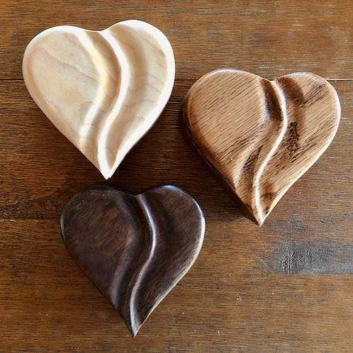 Wood Heart Boxes, small