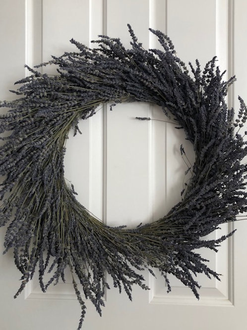 Dried Lavender Wreath, large