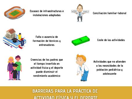 Barreras para la práctica de actividad física y deporte