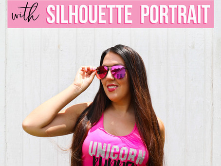 DIY Graphic T-Shirt with Silhouette Portrait!