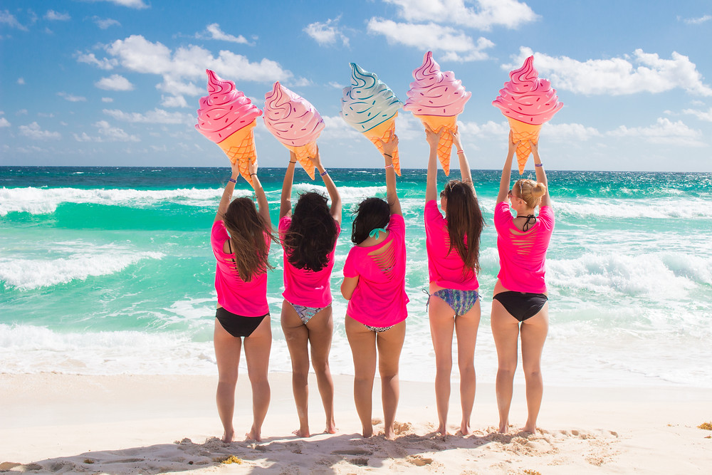 Girl Squad Photoshoot on the Beach - Beach Bums