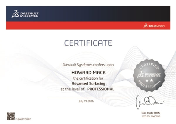 CSWPA-SU SolidWorks