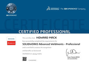 CSWPA-WD SolidWorks