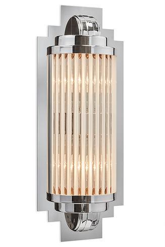 Silberne Art Deco Wandleuchte Model Avignon
