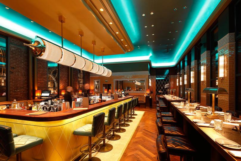 Art Deco Beleuchtung im Restaurant Elbers 800 Grad