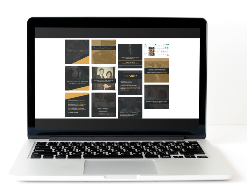 Judith Lorick Social Media Plan Laptop Mockup