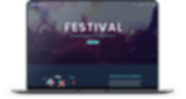 Agency Listing Websites and Real Estate Listing Websites. Laptop Mockup of a real Music Festival Website feautring an Agency Listing Website. One of the many types of websites you can have for your project. Database websites consisting of listings, search engines, accounts, and email subscription services.