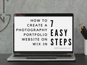 How to Create a Photography Portfolio Website on Wix in 7 Easy Steps