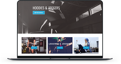 ANG FIT Life E-Commerce Website Design featuring fitness gear and apparel.
