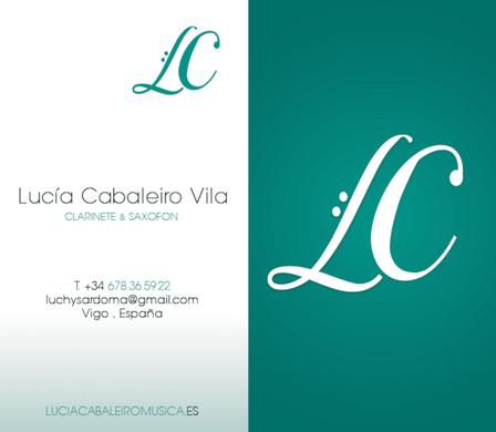 Lucia C Vila Musician Business Card Design