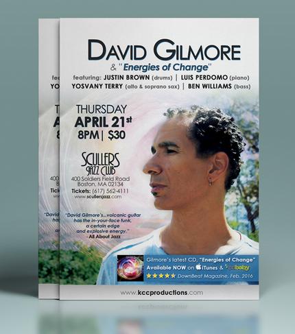 David Gillmore & Energies of Change Flyer Mockup