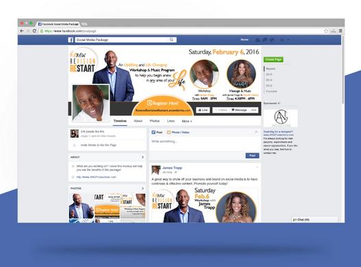 Renew Revision Restart by James Trapp Social Media Package Mockup