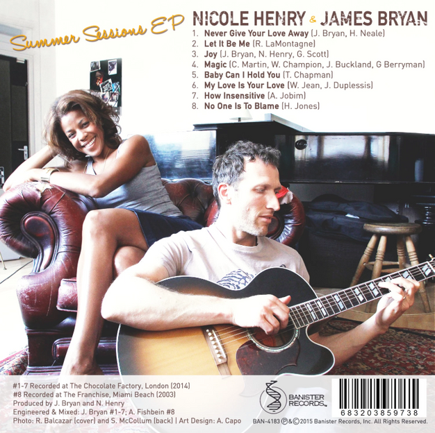 Nicole Henry Summer Sessiosn EP Album , BACK Panel