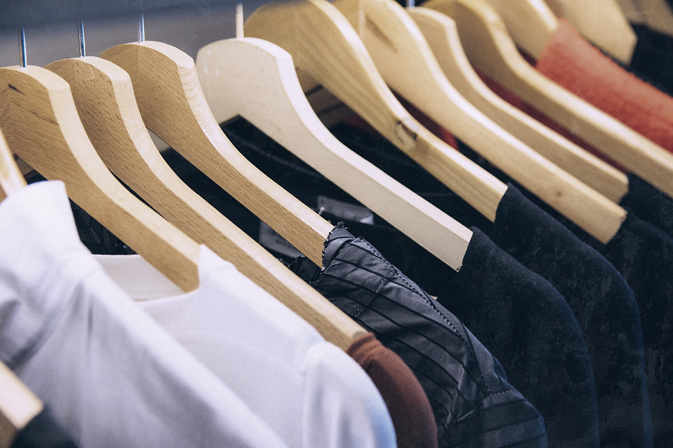 clothes%20hanged%20on%20brown%20wooden%2
