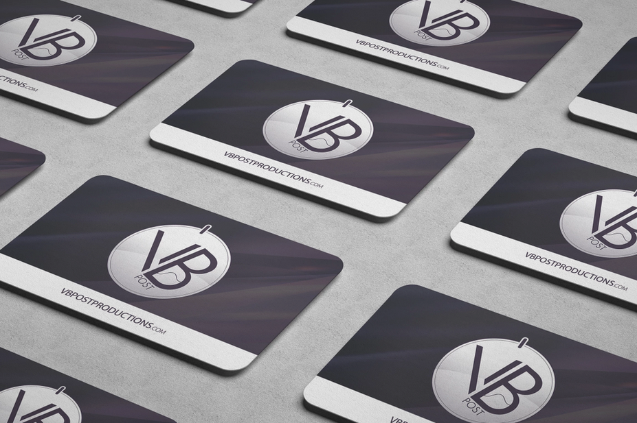 VB Post Productions Business Card Mockup