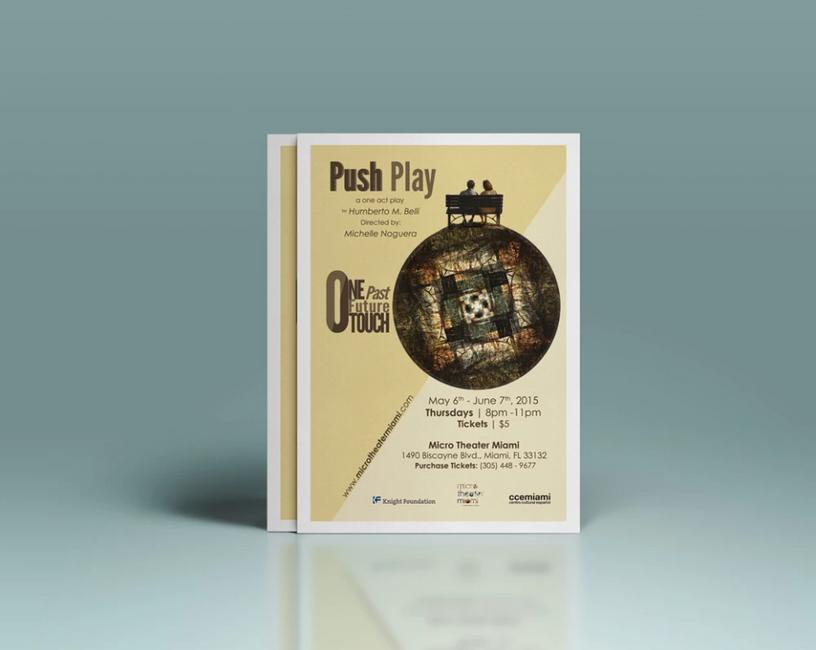 Push Play Flyer Mockup