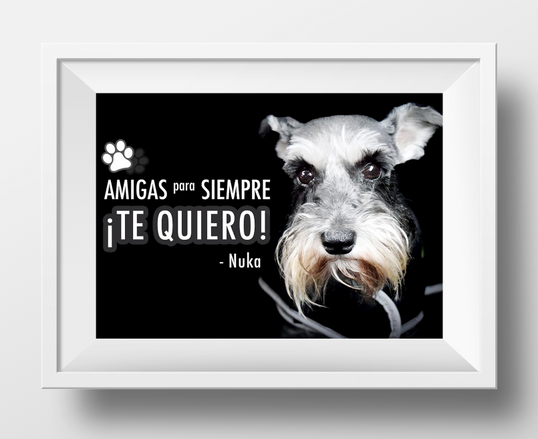 Family Pet Portrait with Frame Mockup