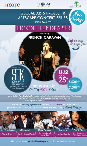 Global Arts Project & Artscape Concert Series Kickoff Fundriaser featuring French Caravan eblast and Flyer 2017