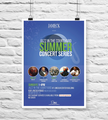 Jazz in the Courtyard Summer Series Flyer / Poster