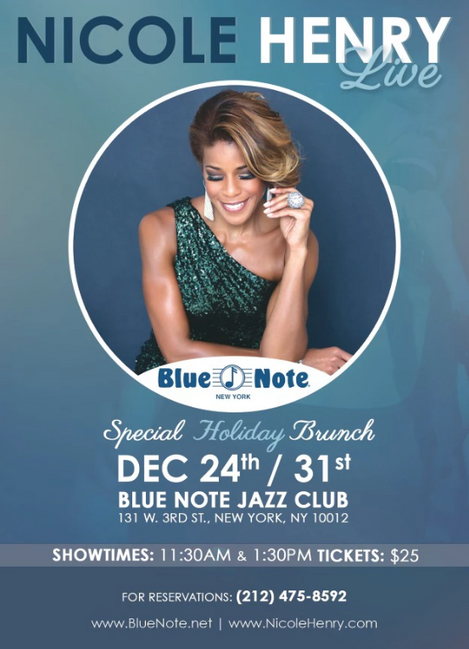 Nicole Henry LIVE - Special Holiday Brunch at Blue Note  Flyer