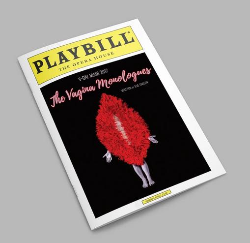 The Vagina Monologues Playbill Mockup